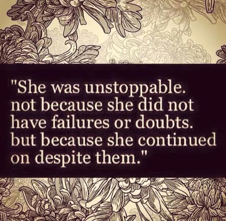 Blog - she was unstoppable