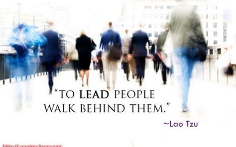 To Lead people